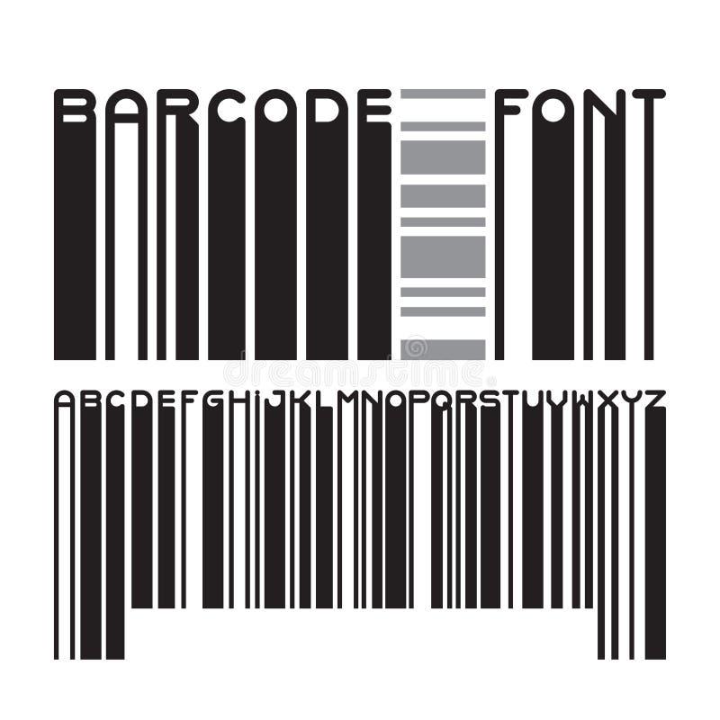 Barcode typeface font royalty free illustration