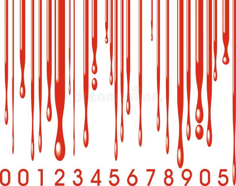 Barcode und Blut stock abbildung