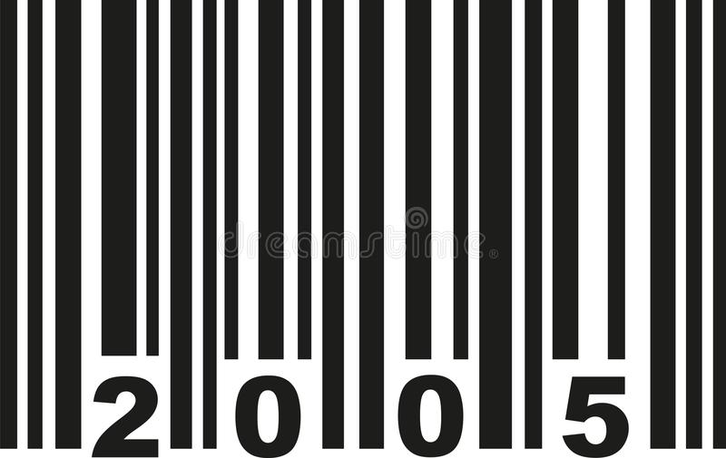 Barcode 2005 vector stock illustration
