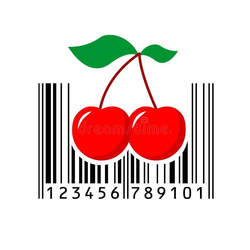 barcode vector illustration stock vector illustration of eating