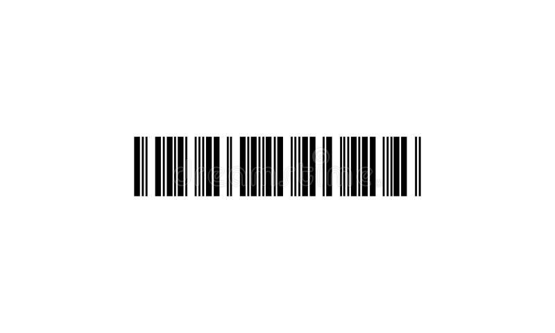 Barcode - Vektorikone lizenzfreie abbildung