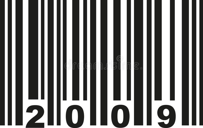 Barcode 2009 wektor royalty ilustracja