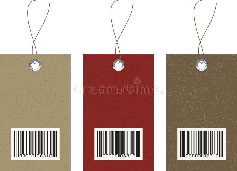 barcode wektory hangtags wektor royalty ilustracja