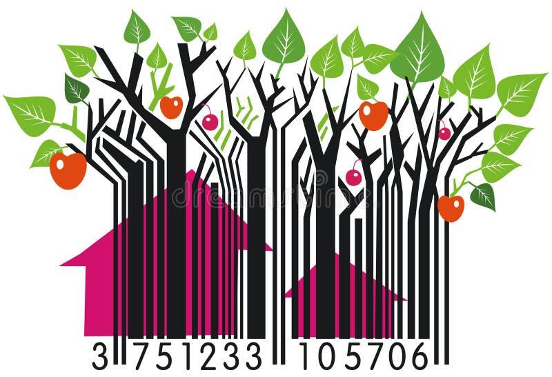barcodebygd stock illustrationer