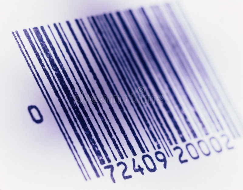 barcoded obraz fotografia royalty free