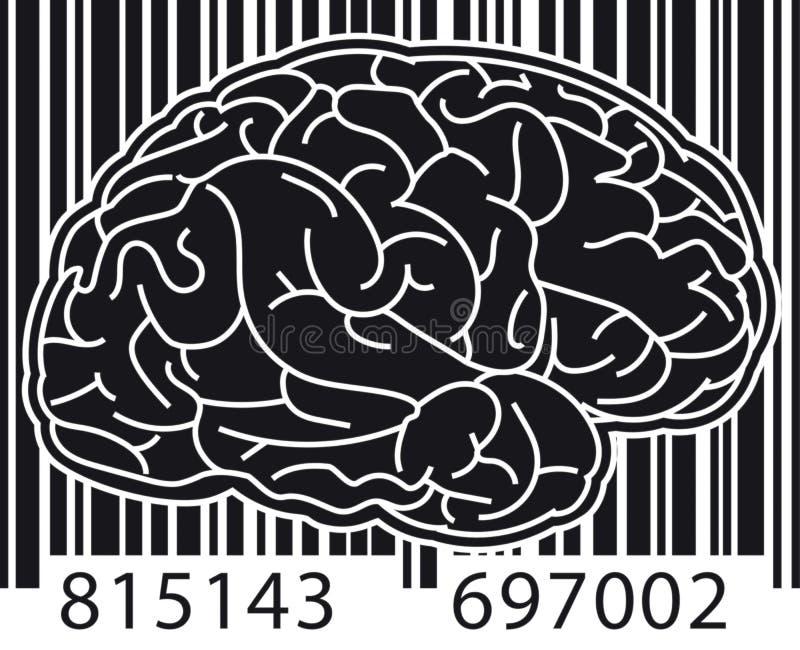 Barcodehjärna vektor illustrationer