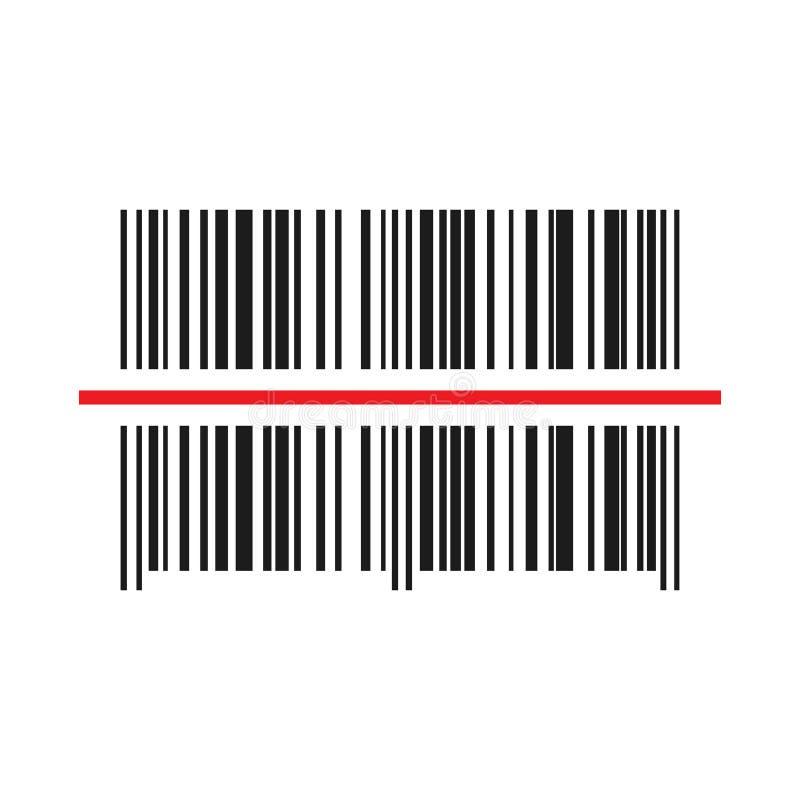 Barcodeikone Auch im corel abgehobenen Betrag lizenzfreie abbildung