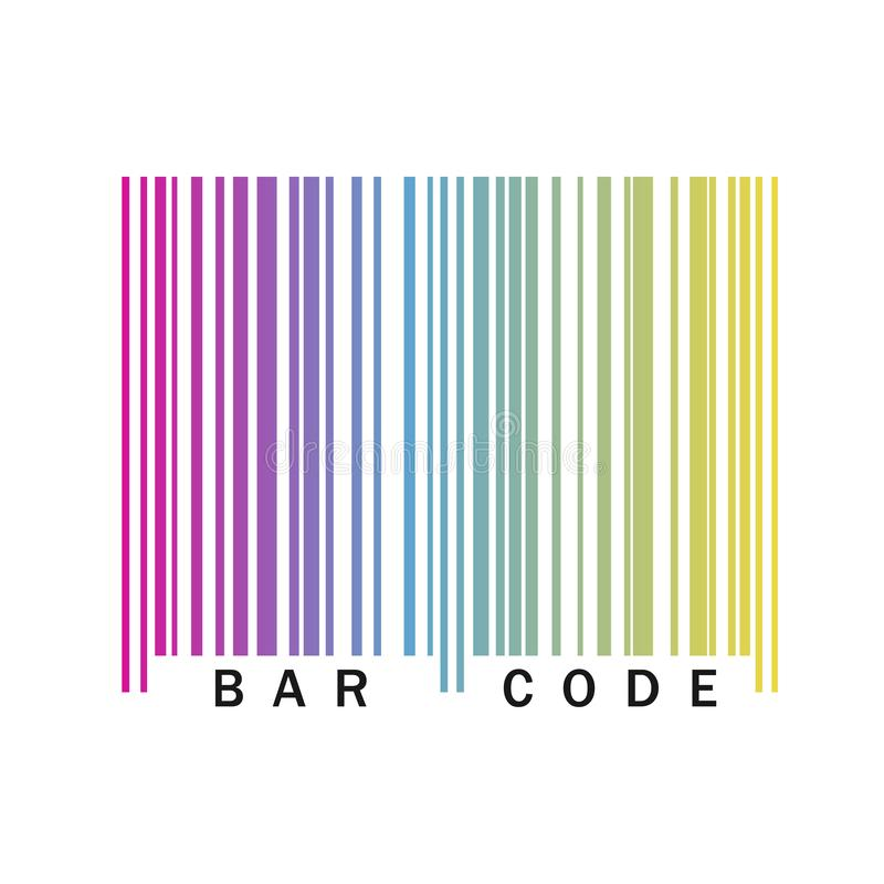 Barcodeikone Auch im corel abgehobenen Betrag stock abbildung