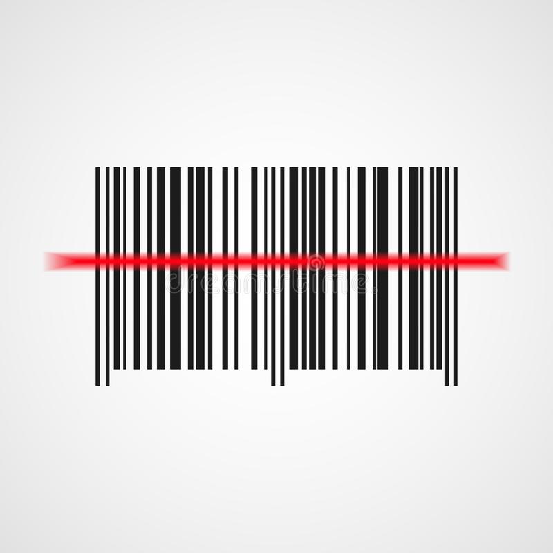 Barcodeikone Auch im corel abgehobenen Betrag vektor abbildung