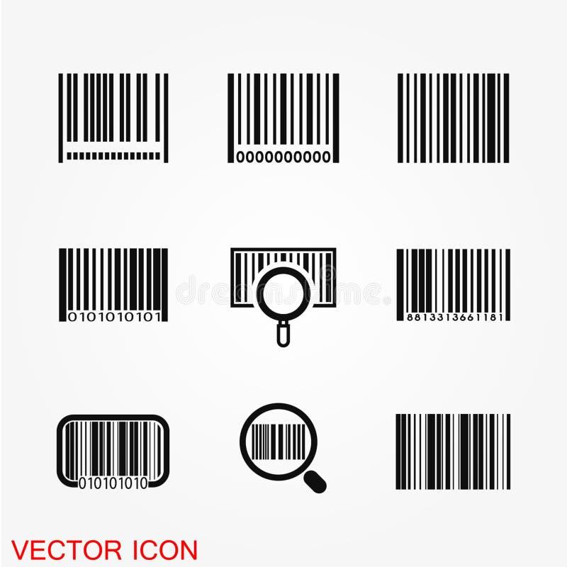 Barcodeikonenvektor lizenzfreie abbildung