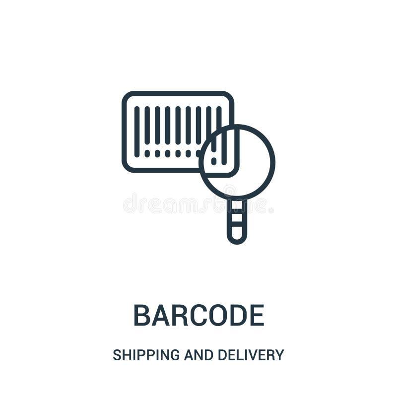 Barcodeikonenvektor von der Verschiffen- und Lieferungssammlung Dünne Linie Barcodeentwurfsikonen-Vektorillustration Lineares Sym vektor abbildung