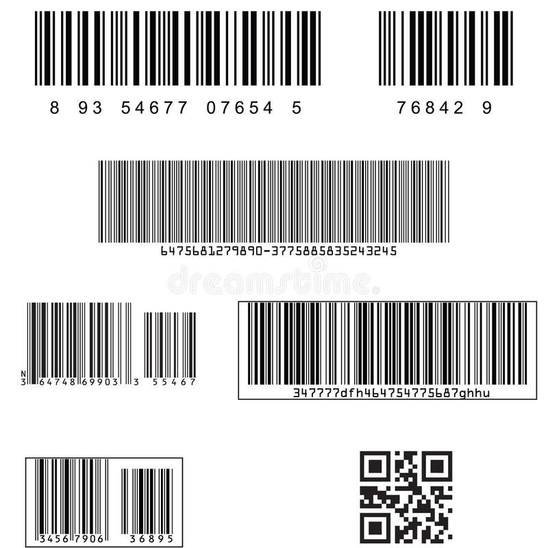Barcodes stock illustrationer
