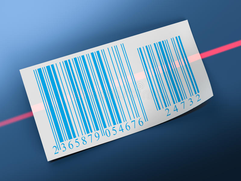 Barcodes sticker label royalty free illustration