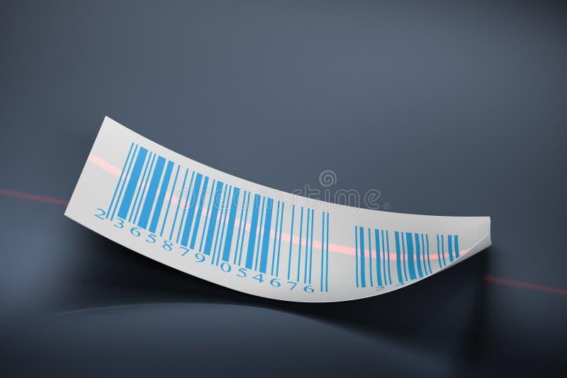 Barcodes sticker label royalty free illustration