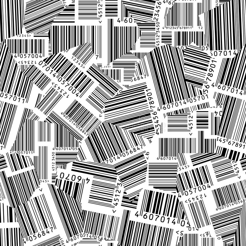 Free Barcodes Torn (seamless Vector Wallpaper) Stock Images - 4913234