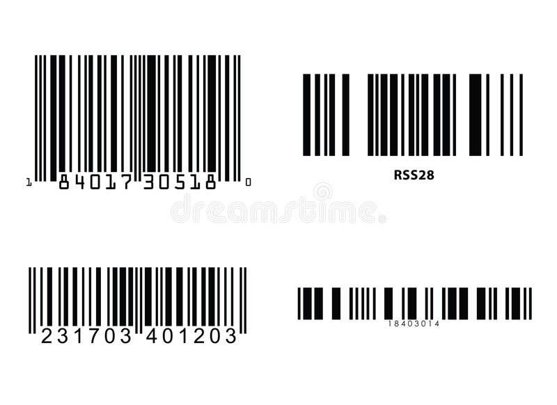 Barcodes vector royalty free illustration