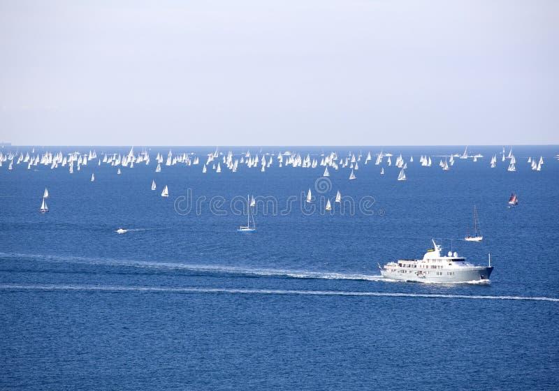 Download Barcolana, O Regatta De Trieste Foto de Stock - Imagem de bóia, filiais: 16856178