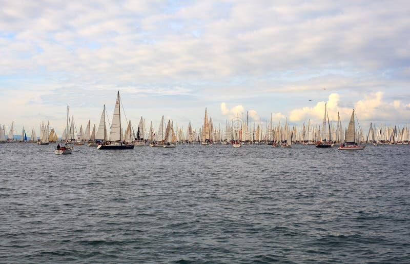 Download Barcolana regatta, Trieste editorial stock photo. Image of sailboats - 27153253