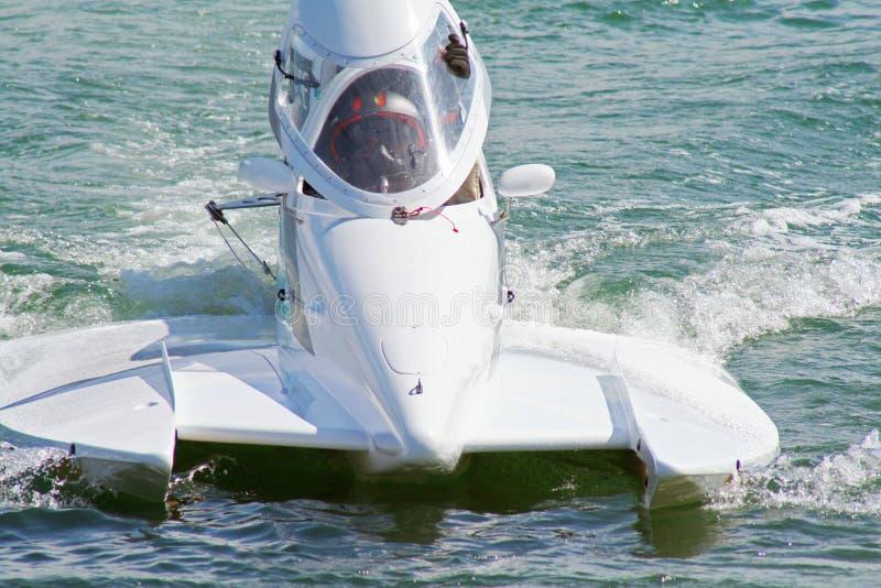 Barcos 1 da potência do Fórmula 1 fotografia de stock