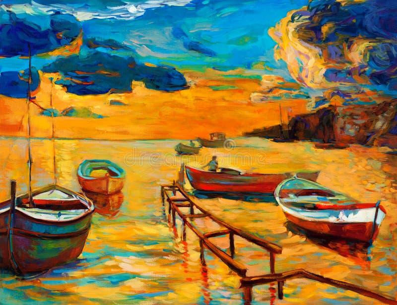 Barcos ilustração do vetor