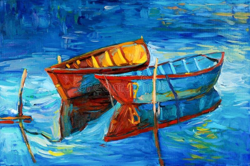 Barcos ilustração stock
