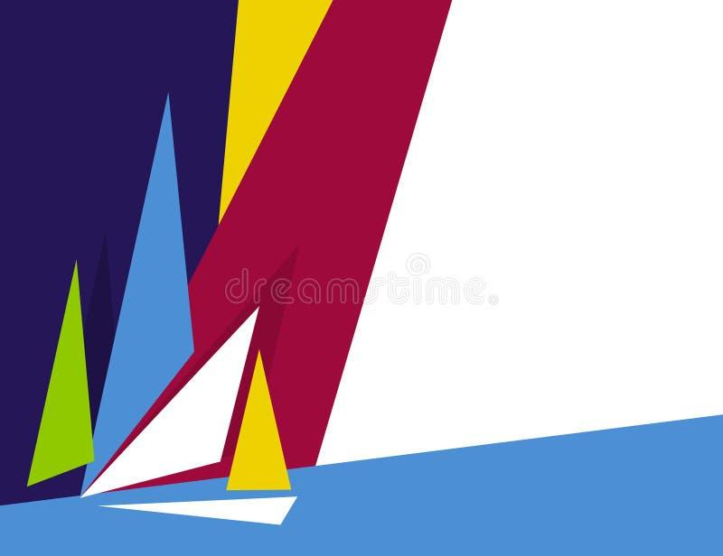 Barcos abstractos stock de ilustración