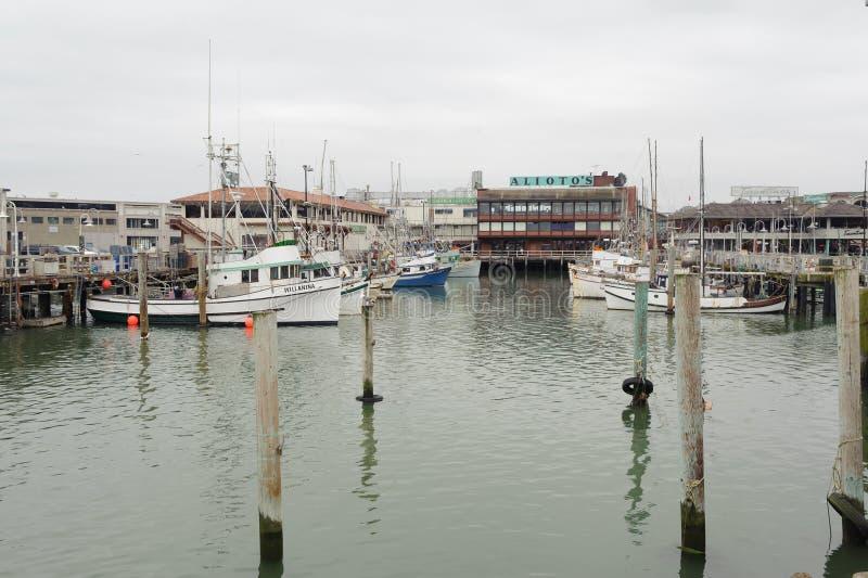 Barcos atracados en San Francisco fotos de archivo
