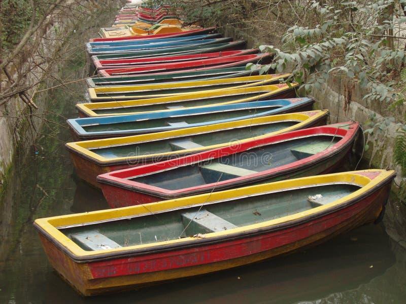 Barcos coloridos fotografia de stock