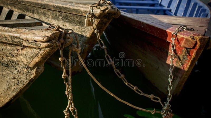 Barcos consolidados fotografía de archivo