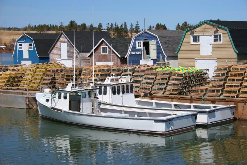 Barcos da lagosta imagem de stock royalty free