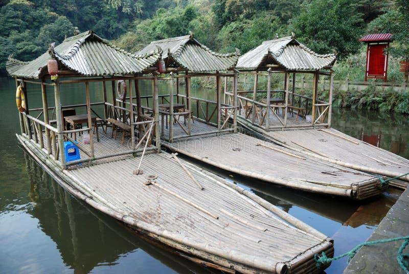 Barcos de bamb? fotografía de archivo libre de regalías