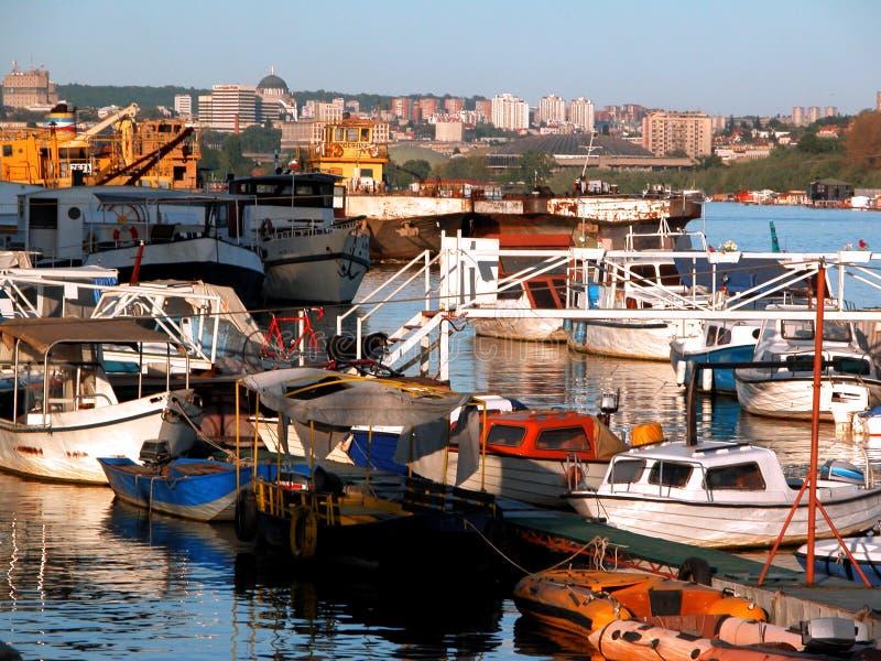 Barcos de Belgrado imagenes de archivo