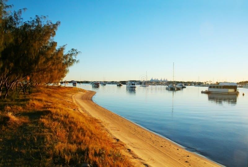 Barcos de Broadwater foto de stock royalty free