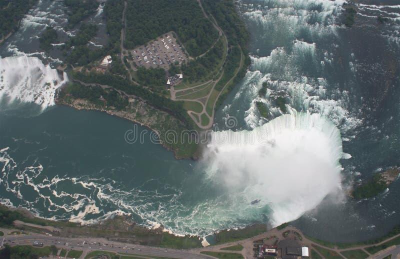 Barcos de Canadá Niagara Falls fotografía de archivo libre de regalías