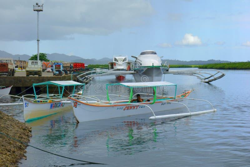 Barcos de cruceros en el mar fotografía de archivo libre de regalías