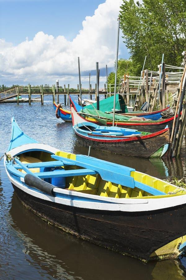 Barcos de Escaroupim fotografia de stock royalty free