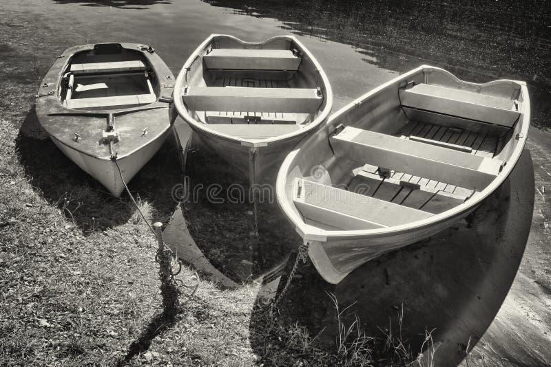 Barcos de fila imágenes de archivo libres de regalías