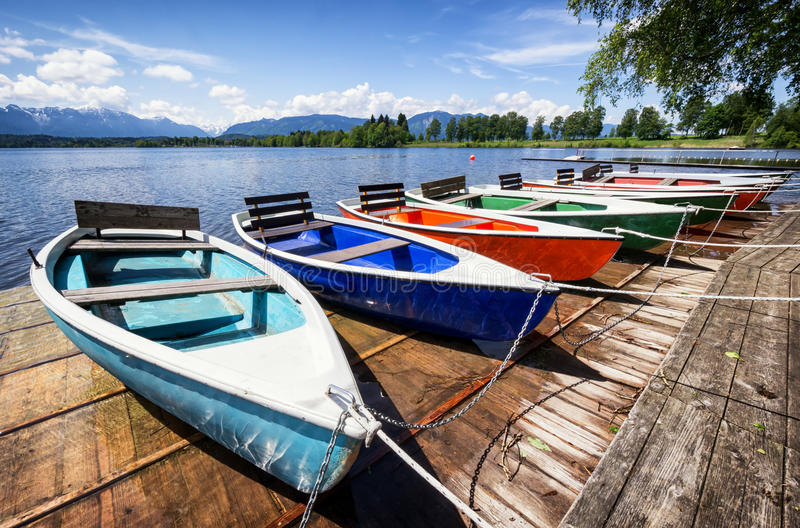Barcos de fila foto de archivo libre de regalías