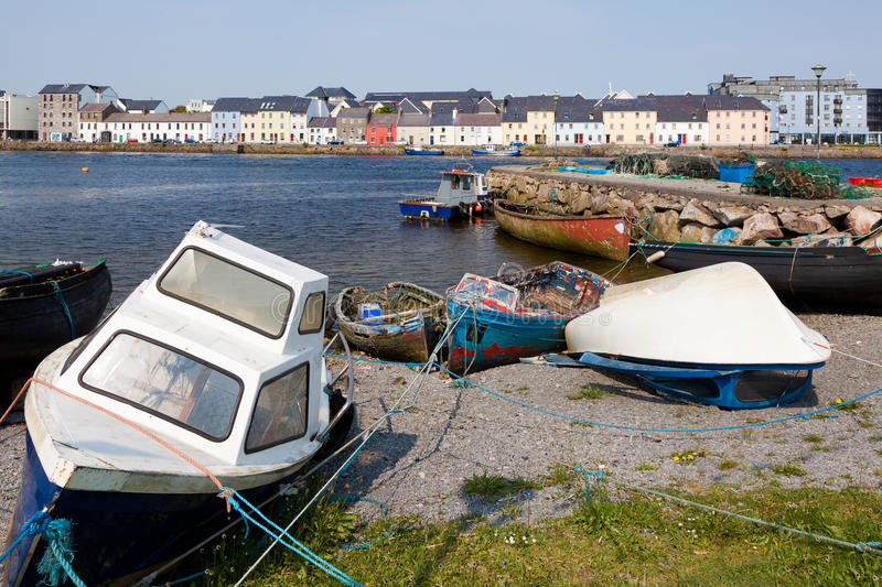 Barcos de Galway, Ireland fotografia de stock
