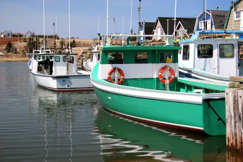 Barcos de la langosta II imagen de archivo