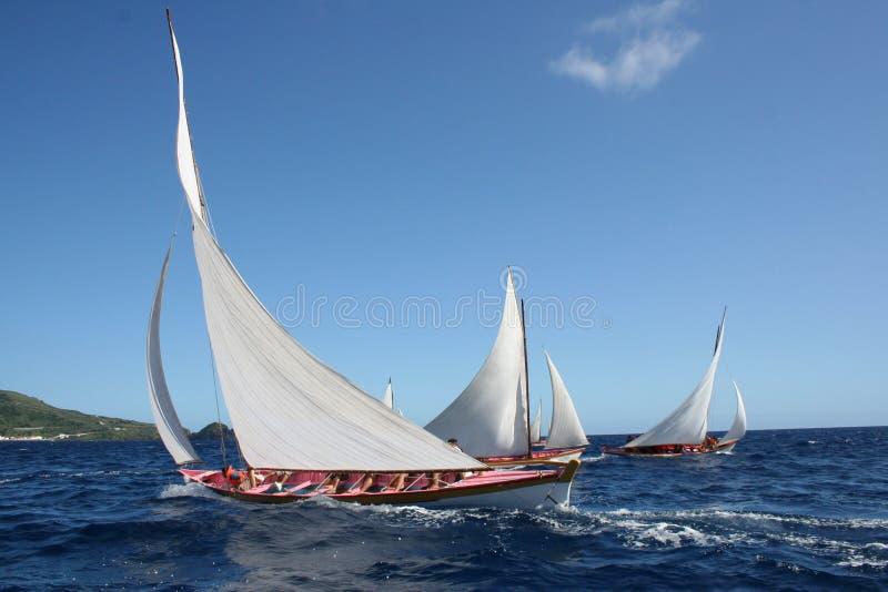 Barcos de la pesca de ballenas imagen de archivo