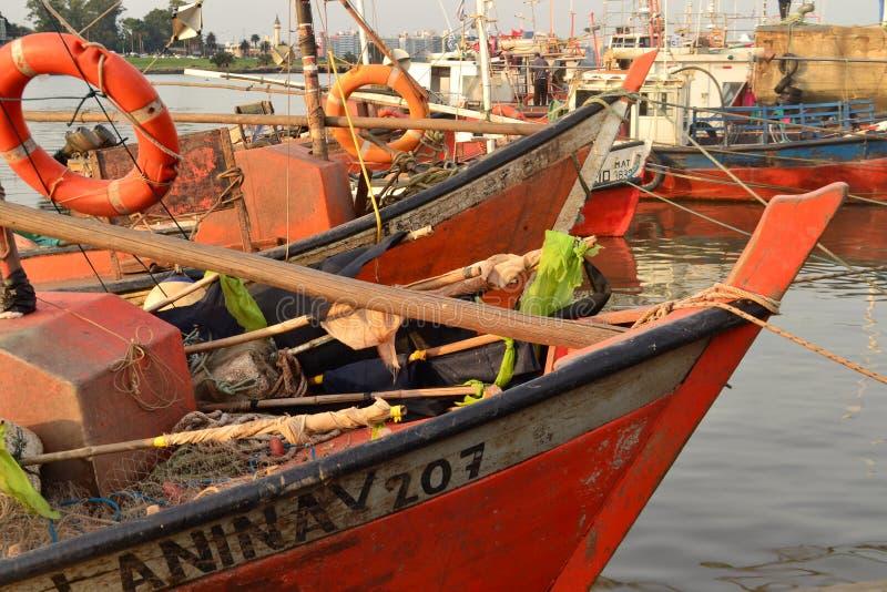 Barcos de los pescadores, Montevideo imágenes de archivo libres de regalías