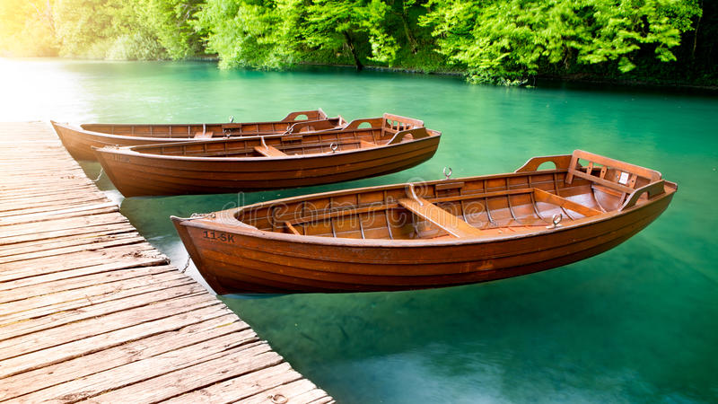 Barcos de madeira imagem de stock royalty free