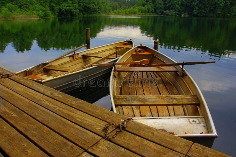 Barcos de madeira fotografia de stock royalty free