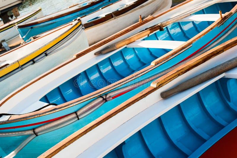 Barcos de madeira tradicionais foto de stock
