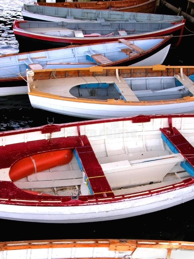 Barcos de madera imagen de archivo libre de regalías