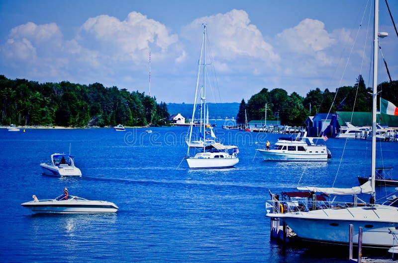 Barcos de Michigan foto de stock royalty free