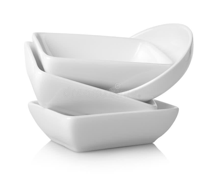 Barcos de molho brancos imagens de stock