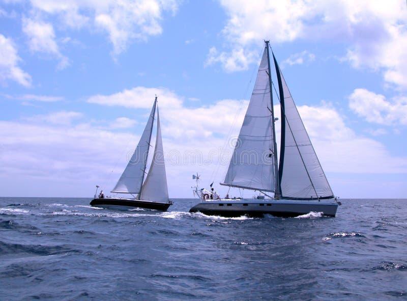 Barcos de navigação fotografia de stock royalty free