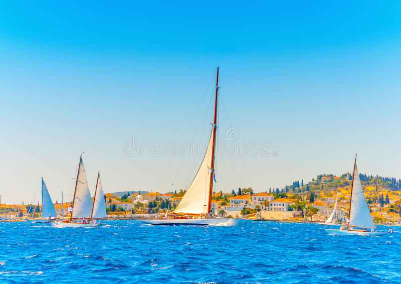 Barcos de navigação de madeira clássicos fotos de stock royalty free